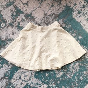 Cream Colored Disney by LC Circle Skirt